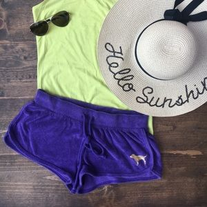 Terry cloth beach shorts